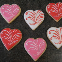 Valentine's Day Cookies Did another batch of Valentine's Day cookies and tried a different design, which I love! Thanks for looking!