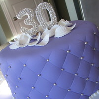 Purple 30Th Birthday Made this cake for my best friend's surprise birthday party. Used her favorite colour purple. Covered in fondant, silver dragees, and...
