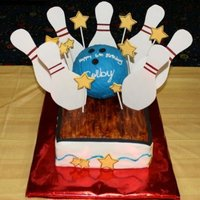 Who's Ready For Some Bowling? Cake I made to look like a bowling alley. Birthday party was at the bowling alley as well. TFL!