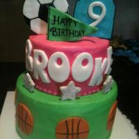 Girly Sports covered in bc, fondant accents