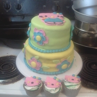B-Day Cake For My Daughter Fondant Hello Kitty cake