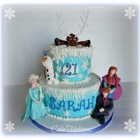 Frozen   A 21st Birthday Cake for my daughter.