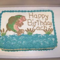 Fish Jumping Buttercream on butterpecan cake