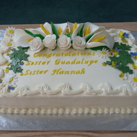 I Made This Half Sheet Along With Two Other Half Sheet Cakes No Flowers On Those For A Vow Ceremony For The Sacred Heart Sisters This Cak I made this half sheet along with two other half sheet cakes (no flowers on those) for a vow ceremony for the Sacred Heart Sisters. This...