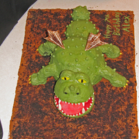 How To Train Your Dragon - Gronkle  I made this cake for my son's birthday. The cake is made of a combination of Wilton's ball pan and min-ball pan, 2 - 9 inch...