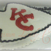 Chiefs Arrowhead Birthday cake made for a couple of Kansas City Chiefs fans.