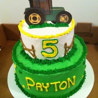 John Deere Birthday!   2 tier, photo pik for the topper.