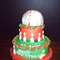 Christmas Bowling Party Cake