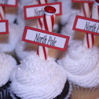 "North Pole Cupcakes North Pole Cupcakes for a ""Polar Express"" party"
