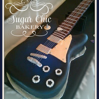 Life Size Guitar Grooms Cake Electric guitar