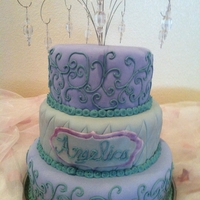 "18Th Birthday Cake   My first official ""not friend or family"" cake. This was for an 18 year old's birthday."