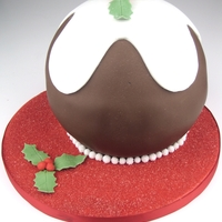 Christmas Pudding Cake A Christmas cake made to look like a Christmas pudding