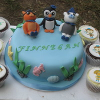 Octonauts Cake Fondant Octonauts (children's TV programme in the UK) cake featuring Peso Penguin, Kwazii Kitten and Captain Barnacle Bear. Vanilla...
