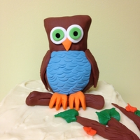 Owl Shower Cake - To Match Invitations