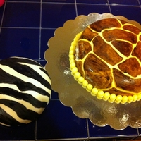 Zebra And Giraffe Cake