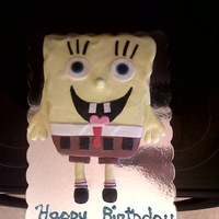 Spongebob Cake I did this for a friends sons 6th bday. I carved spongebob out of chocolate cake. He is covered in fondant and all accents are fondant. I...