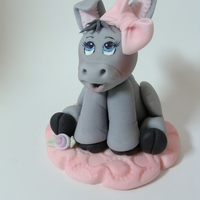 Darling Donkey Hand modeled fondant.