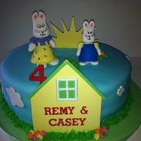 Max & Ruby   As a mom I've watched a lot of Max and Ruby....it prepped me well for this cake!