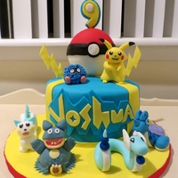 Pokemon Birthday Cake Pokemon cake I did for a fun loving 9 year old.