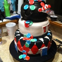 Casino Cake For A Competition I made this cake for a competition here in north tx this weekend. all the decorations are fondant with a few handpainted detaills