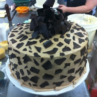 Chocolate Birthday Cake Chocolate leopard print Cake