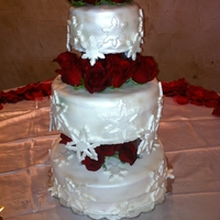 Snowflake Wedding Cake Simple Design Snowflake Cake I did for a friends wedding. Lemon cake With a raspberry filling iced in buttercream and covered in fondant....