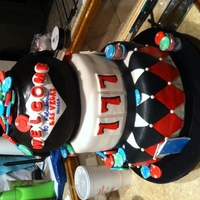Vegas Cake Fondant covered and detailed cake from a competition. I got 2nd place in my category