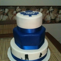 Toronto Maple Leaf Wedding Cake This was a wedding cake I made for a couple whom were big Toronto Maple Leaf Fans.