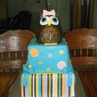 Owl Birthday Cake Owl is RKT.