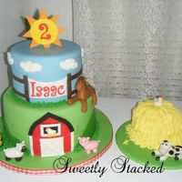 Farm Theme Cake Amp Smash Cake Farm theme cake & smash cake.