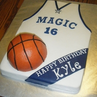 Orlando Magic Basketball Jersey Cake