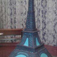 Eiffel Tower Birthday Cake Son requested for his 16th birthday since he is taking French this year. Top section is a carved wood base, 2nd section is French vanilla (...