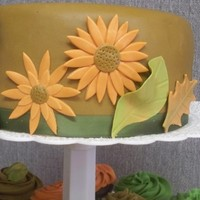85Th Birthday On Thanksgiving Weekend Buttercream and fondant covered with fondant/tylose leaves and flowers. TFL!