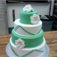 For A Bridal Convention Display Dummy cake for a bridal fair display. The hotel requested the colors. I was trying to make it appealing to both traditional and modern...