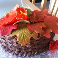 Fall Theme Basket Cake Vegan Chocolate cake...