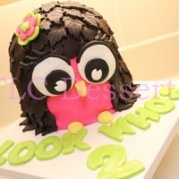 Lady A's Owl Cake   An owl cake I made for a good friends daughter for her second birthday.