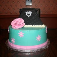 Purse Cake This was for a sweet little girly girl! The bottom tier is iced in SMBC with fondant accents and the purse is covered in fondant. My first...
