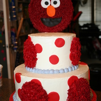 Elmo Cake This was for a little boy's 1st birthday. His Mom found a cake like this off of CatchMyParty.com and had me try to replicate it. The...