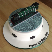 A Steam Engine Birthday Cake A Steam Engine made out of gumpaste replicating The Flying Scotsman