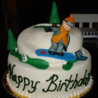 Snowboard Birthday Boy Made this for my friends Birthday. Snowboarder Tech fan100%Fondant