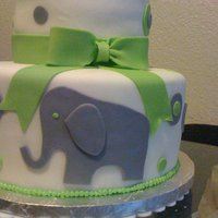 Elephant Baby Shower Made this cake this past weekend. I really enjoyed the color theme of lime green and gray. Very pleased with the way it turned out.