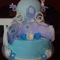 Cinderella Inspired Made this for my sisters birthday last year. My first attempt at making a pillow cake. Carriage: Ball Pan