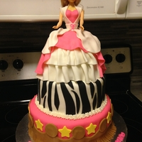 Cowgirl Barbie Birthday girl wanted a Cowgirl Barbie cake with zebra print. The imagination of little girls!! :)