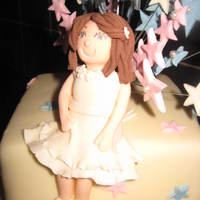 3D Sugarpaste Girl Ivory Dress