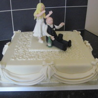 Swags Ivory Wedding Cake