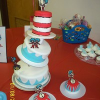 Dr. Seuss - Thing 1 & Thing 2  I made this stand with PVC from the hardware store. It was so easy! I definitely plan on using this stand for a lot of kids cakes! All...