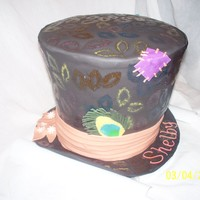 Mad Hatter Cake This was a cool cake to make! Just like Johnny Depp's in Alice in Wonderland! All edible decorations!