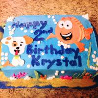 Bubble Guppies Buttercream Icing With Fondant Appliques Bubble Guppies: Buttercream icing with fondant appliques.