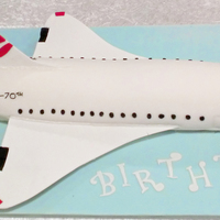 Concorde this was made out of spong cake and better cream for a dad who was going to be 70 and just loved concorde so this is my take on it every...