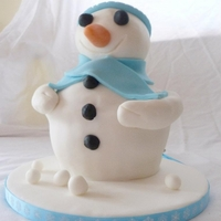 Snowman Cupcake   this is mead from a great cupcake the in side is spong and buttercream